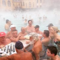 Taking the waters in Budapest